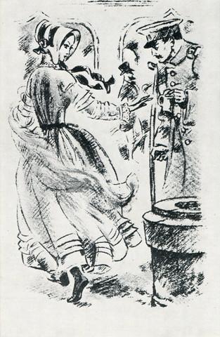 """Тырса Н.А. (1887-1942) """"Грушницкий и кнжна Мэри"""""""